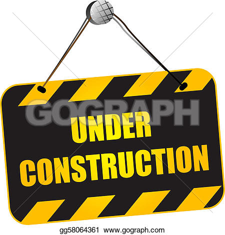 Hello, under construction; Under construction sign