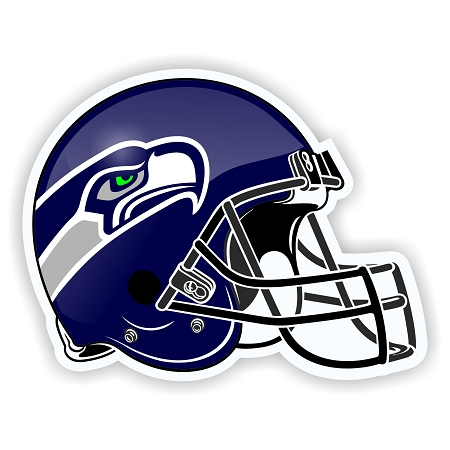 Helmet Seattle Seahawks .
