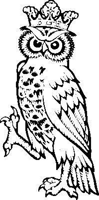 Heraldic Clip Art Owl_supp1-Heraldic clip art owl_supp1-9