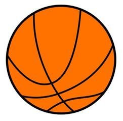 Here is some basketball clipart. My counsin loves basketball and basketball clipart.