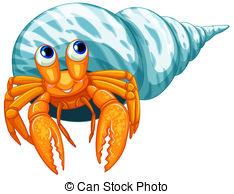 ... Hermit crab - Illustration of a clos-... Hermit crab - Illustration of a closeup hermit crab-7