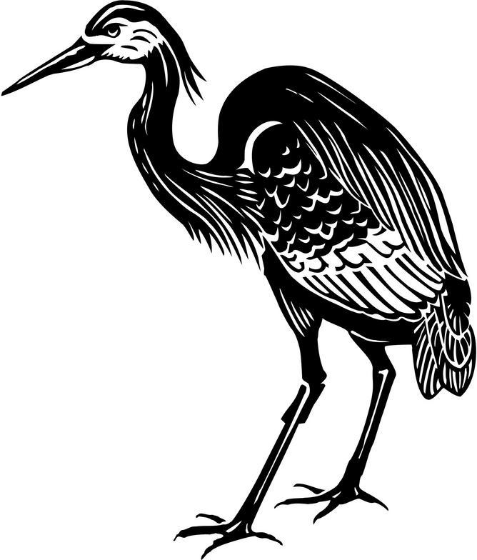 Heron Clipart-Heron Clipart-7