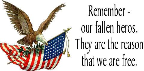 Heros memorial day clipart