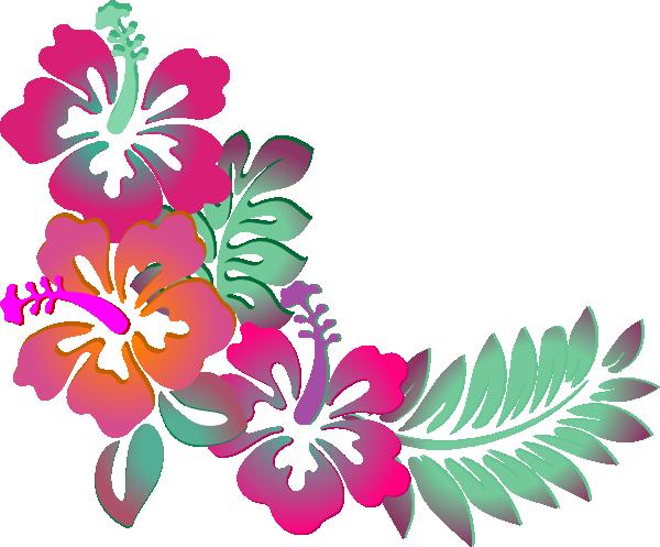 Hibiscus Corner Clip art - Flowers - Download vector clip art online