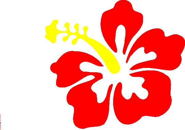 Hibiscus Flower Clipart .