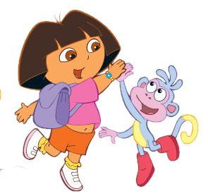 High Five Clip Art | Nickjru0026#39;s Dora the Explorer Cartoon Clipart - I-Love-