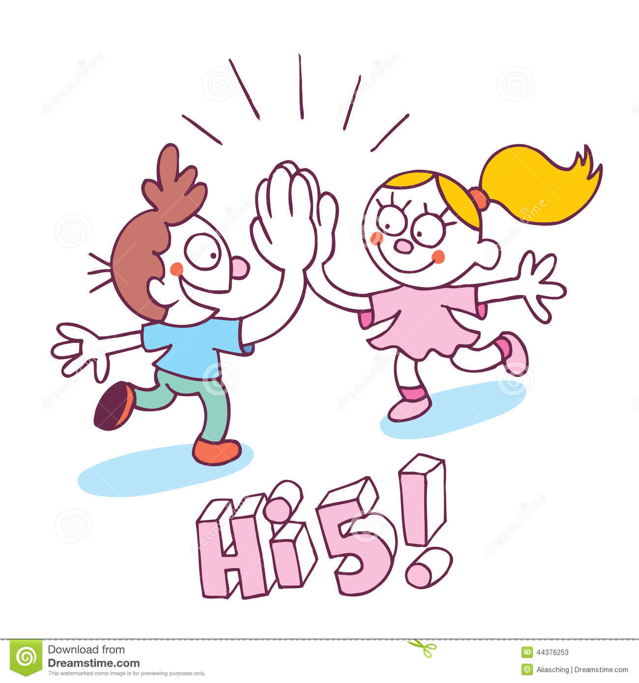 High Five Hand Clipart High Five Kids Stock Photos