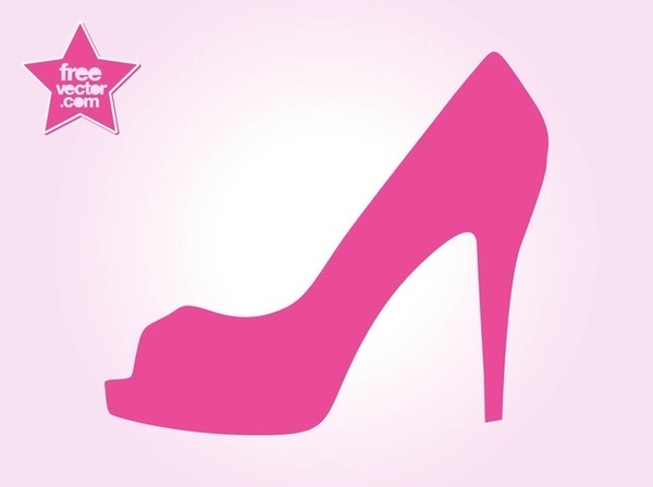 High heel shoe free vector .
