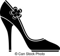 ... High heel shoes (silhouette) over white. EPS 10, AI, JPEG