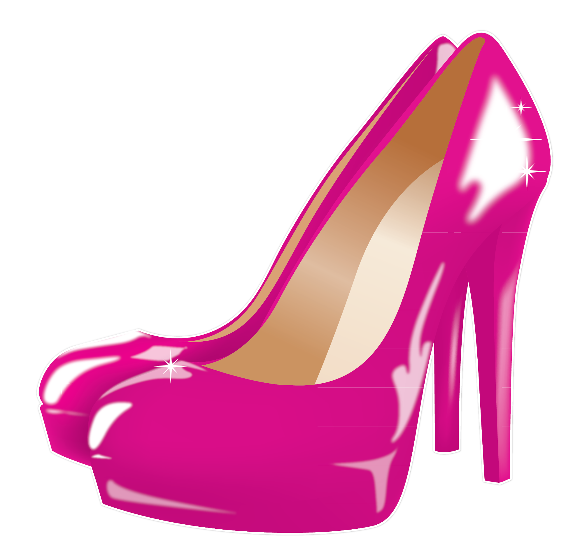 High heels and heels on cliparts
