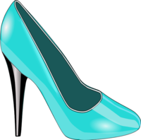 High heels woman shoe fashion vector clip art