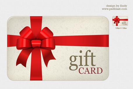 ... High resolution Gift card PSD