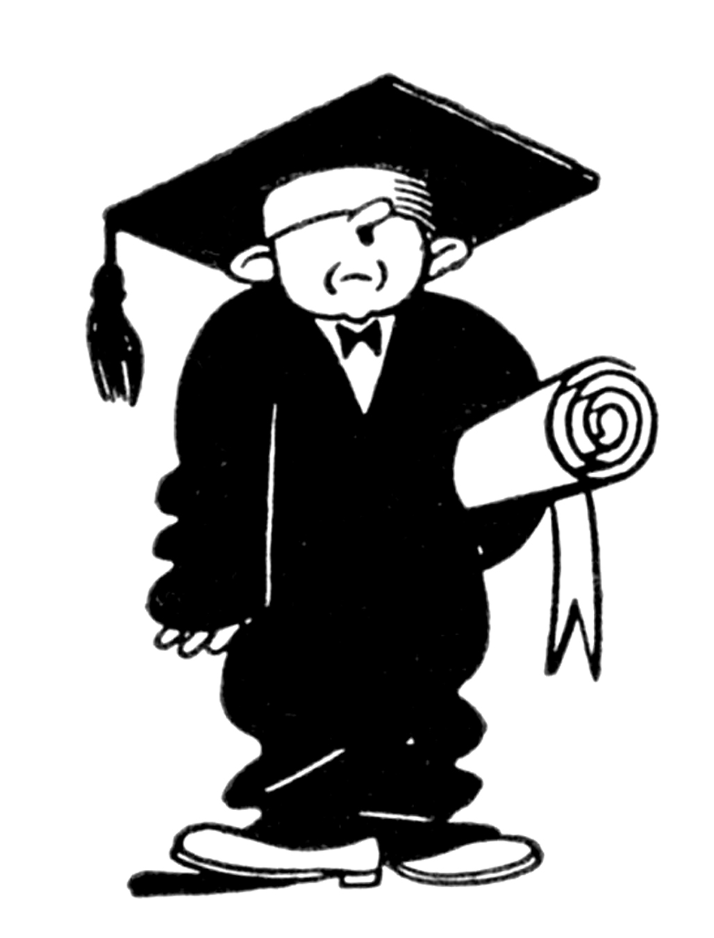 ... High School Counseling; Quirky Retro Graduate Clip Art - Education - The Graphics Fairy ...