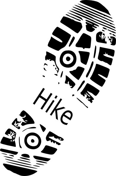 Hike Shoe Print clip art - vector clip art online, royalty free .