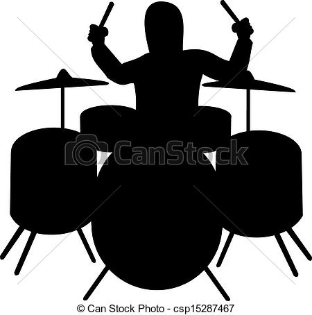 HipHop Drummer Clipartby Kennykiernan9/1-HipHop Drummer Clipartby kennykiernan9/1,197; Silhouette of drummer playing the drum kit-16