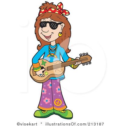 Hippie Girl Clipart #1