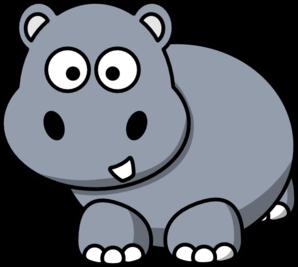 hippo clipart black and white-hippo clipart black and white-2