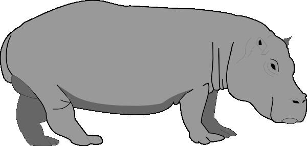 hippo clipart black and white-hippo clipart black and white-3