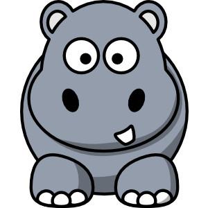 Hippo clip art .