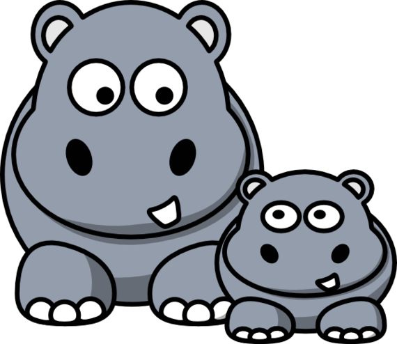Hippo Clip Art Vector Online Royalty Free And Public Domain