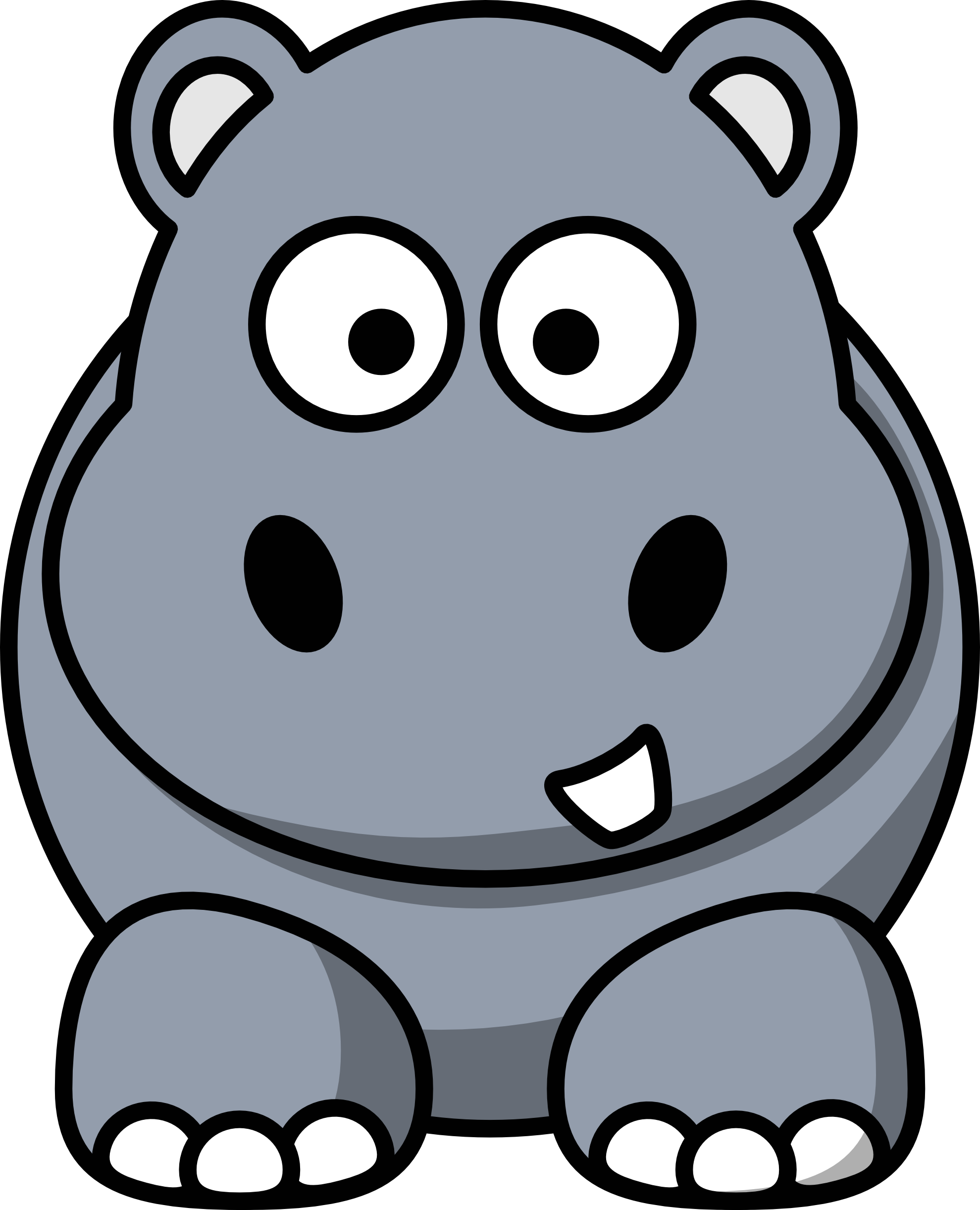 hippo clipart .