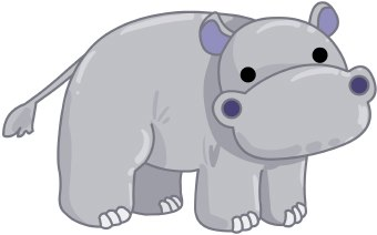 Hippo clipart image