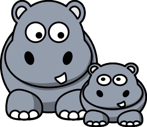 Hippopotamus Clipart - Clipart library