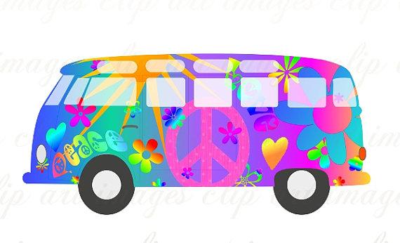 Hippy Vw Bus Clip Art. Pinterest   Buses, Hippie .