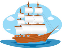 Historic Old Wooden Sail Boat Clipart Si-Historic Old Wooden Sail Boat Clipart Size: 154 Kb-3