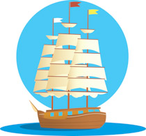 Historic Old Wooden Sail Boat Clipart Si-Historic Old Wooden Sail Boat Clipart Size: 154 Kb-19