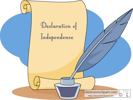 History Declaration Of Independence Classroom Clipart