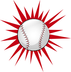 Hit baseball clipart 2