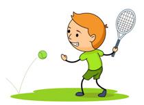Hitting Tennis Ball Forehad Size: 83 Kb
