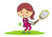 Hitting Tennis Ball With Back Hand clipa-Hitting Tennis Ball With Back Hand clipart. Size: 94 Kb-9