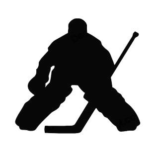 Hockey Goalie Goaler Silhouette Other Ho-Hockey Goalie Goaler Silhouette Other Hockey Decals Decal Sticker-7