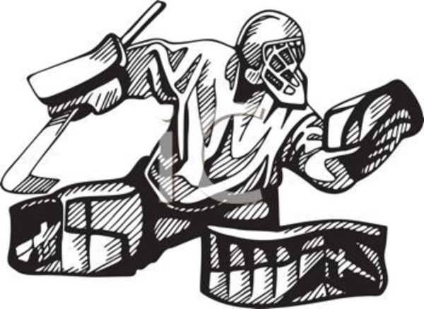 Hockey Goalie In Black And White Clipart-Hockey Goalie In Black And White Clipart Image Free Images At Clker-9