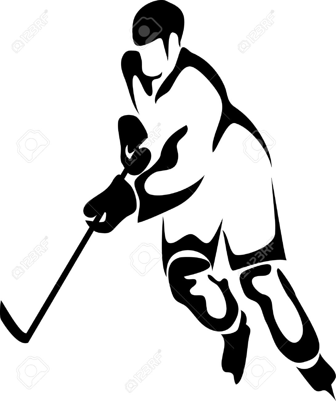 Hockey Player Shooting Clipart . Skating-Hockey Player Shooting Clipart . skating ice: hockey player .-6