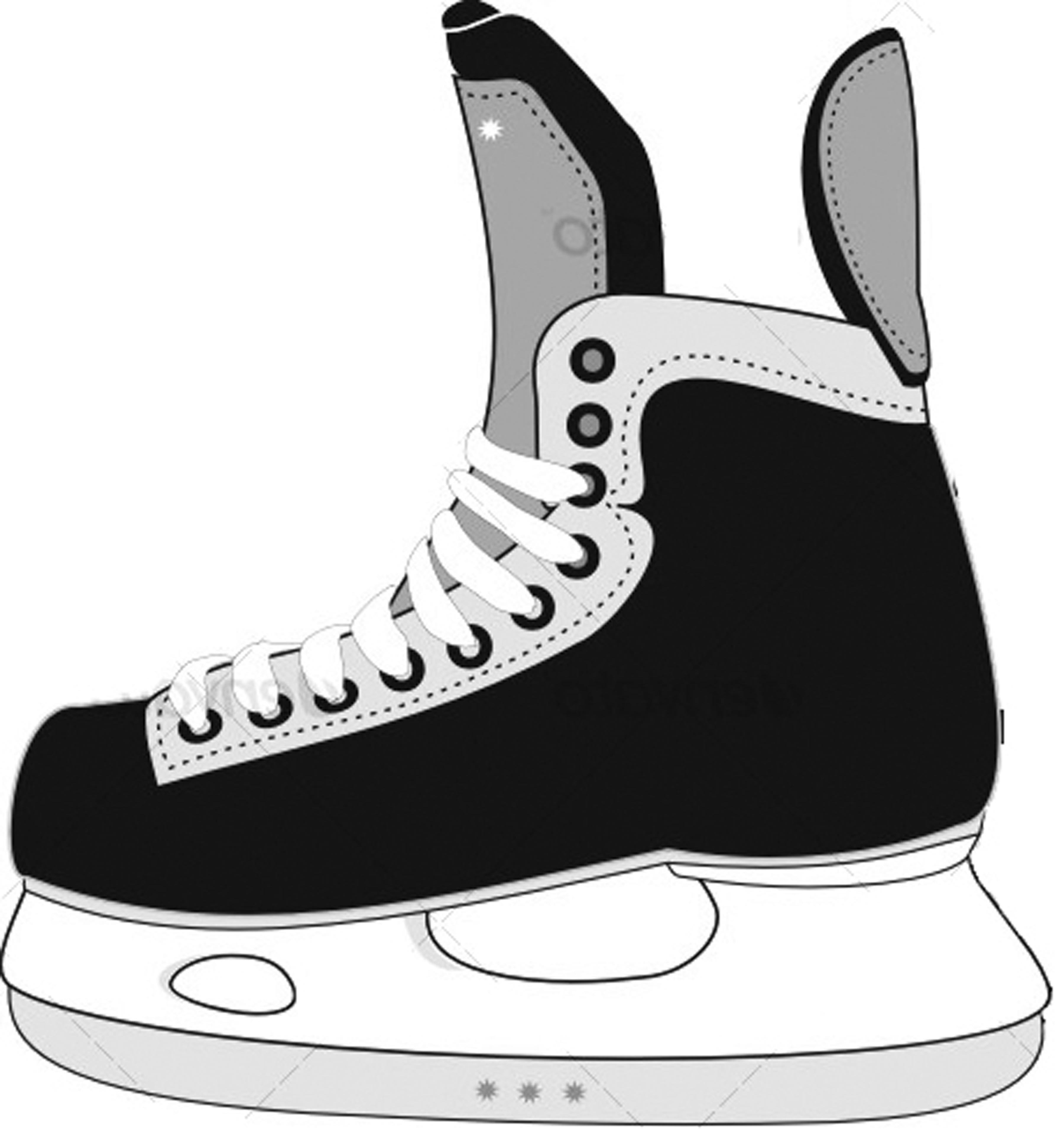 Hockey Skate Clipart #1