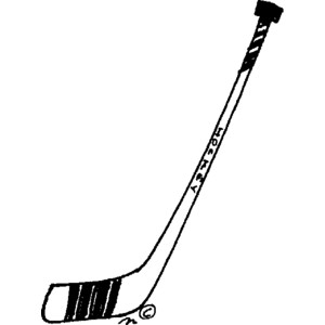 hockey stick clipart Item 1