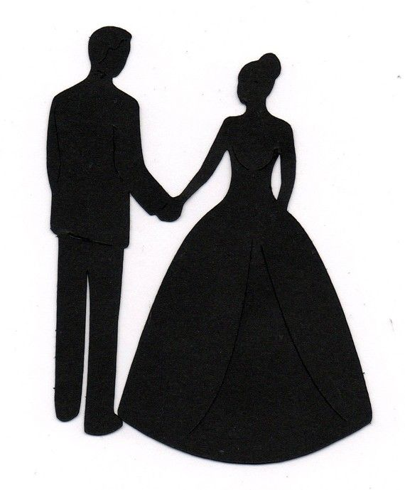 Holding Hands Bride And Groom Wedding Si-Holding hands Bride and Groom Wedding Silhouette die cut for scrap booking or card making u0026middot; Bride Groom SilhouetteBride Silhouette ClipartSilhouette ...-13