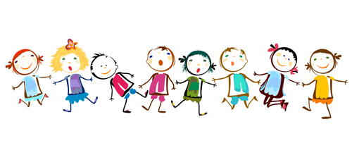 Holding Hands Vector Material 02 Downloa-Holding Hands Vector Material 02 Download Name Children Holding Hands-8