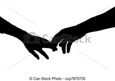 ... Holding Hands - Vector Silhouette Of-... Holding Hands - Vector silhouette of two hands touching.-13