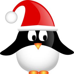holiday penguin clip art
