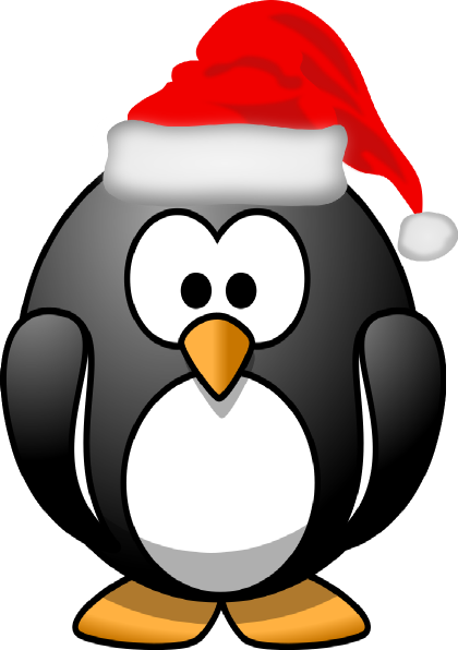 Holiday Penguin Clip Art-holiday penguin clip art-12