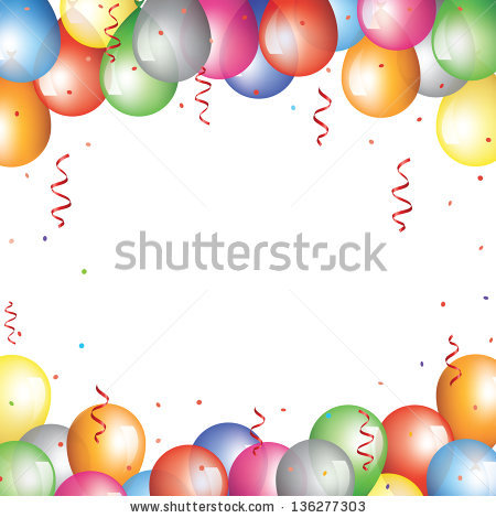Holiday background with balloon border