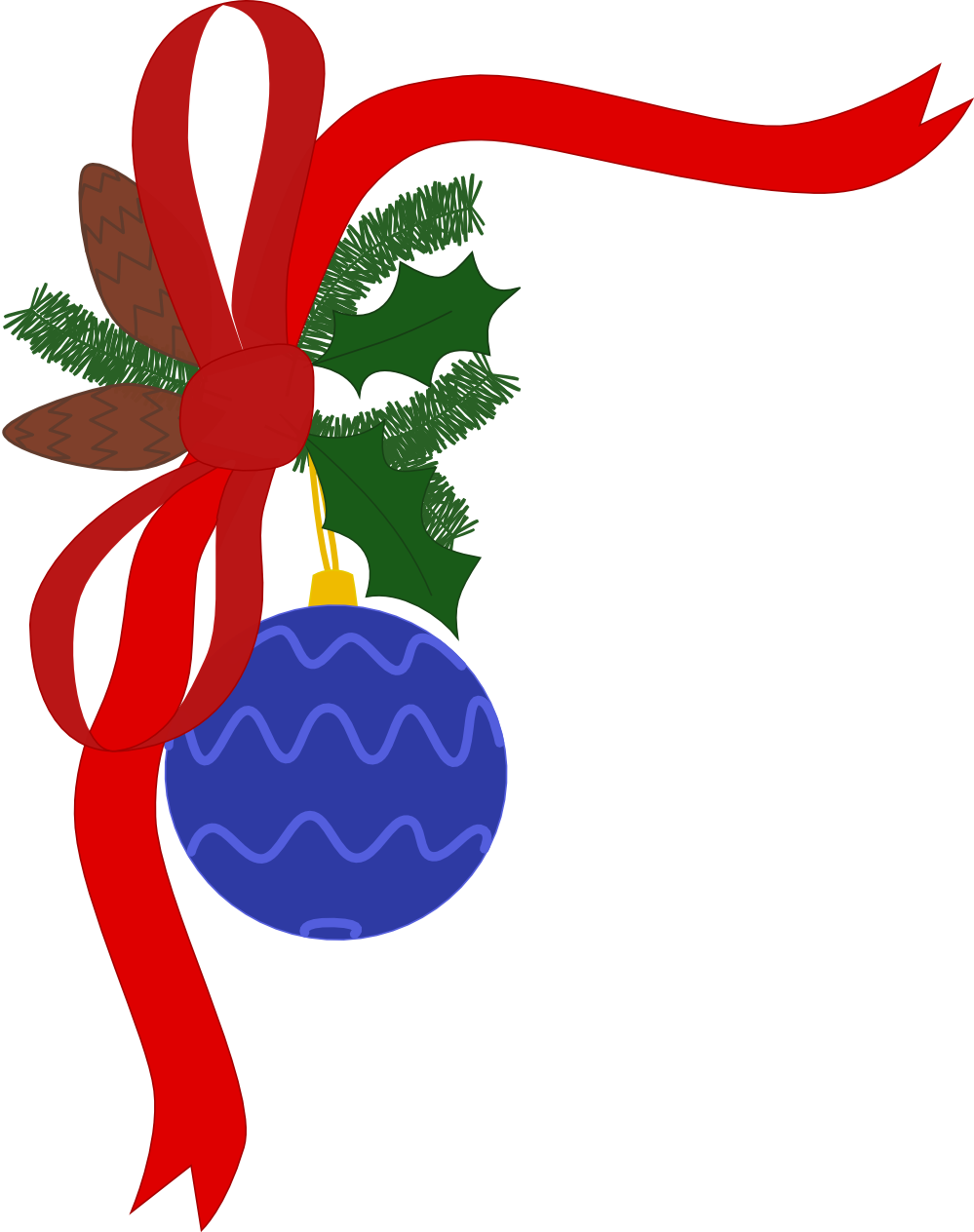 Holiday clip art borders free