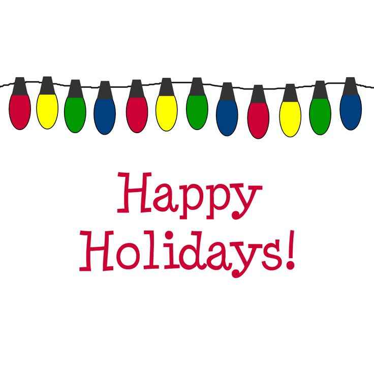 Holiday Clip Art. Happy Holidays! We are offering a great special: 50% off any Event or