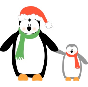 holiday clipart free. ShareHoliday Christmas Penguins ShareHoliday .