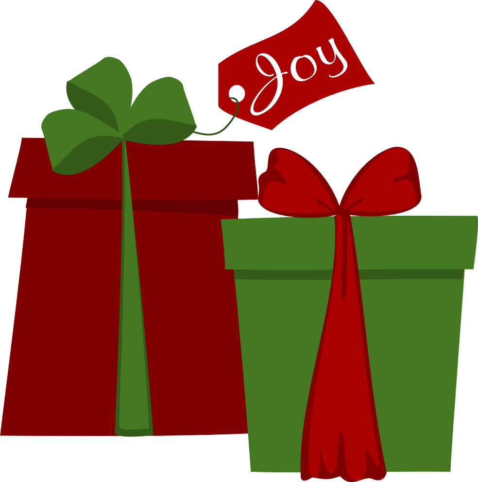 Holiday december greetings clip art