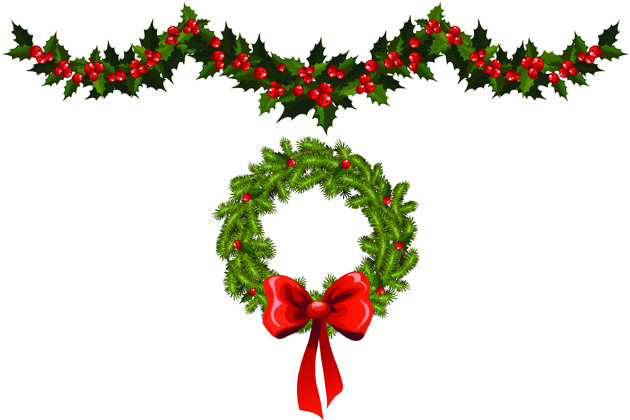 Holiday Garland Clip Art - Clipart library